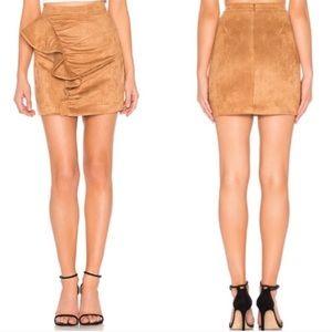 Majorelle Revolve 'Samara' Faux Suede Mini Skirt